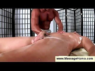 Gay stimulates a clients anal muscles