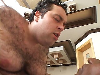 Fat guy fucking big black cock