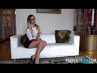 Propertysex sexy hungarian real estate agents has sex with british client