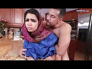 Pretty Arab teen ada gets ripped hard