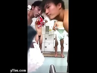 Asian Locker Room Hidden Camera
