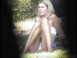 Upskirt milf in the park