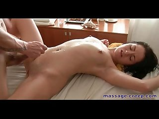 Sexy girl has sex with massage therapist