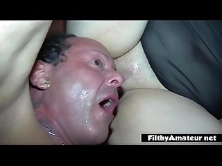 I immerse my face in BBW pussy's broth, amateur facesitting