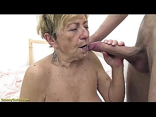 Sexy 90 years old granny gets rough fucked