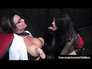 Caged Cougar Deauxma Punished By Femdom Louise Jenson!