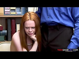 Australian redhead teen caught stealing from a us store