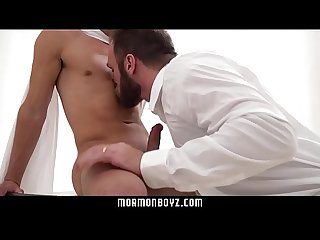 Mormonboyz sexy furry daddy rims and fucks bubble butt bottom deep