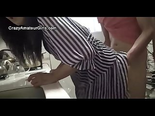 Amateur hd japanese kitchen young
