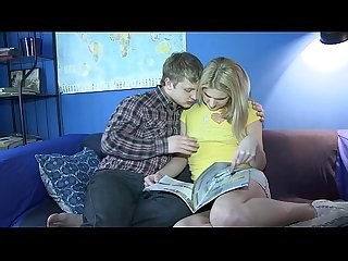 Blonde with trimmed cunt involved into the adult game