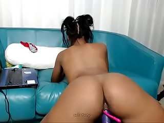 beautiful ebony latina riding sexual ball