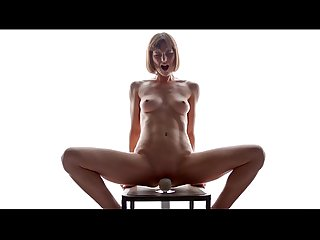 Skinny flora spanish masturbation on machine
