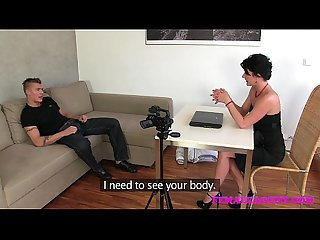 Femaleagent milf cant get enough of strippers cock during casting