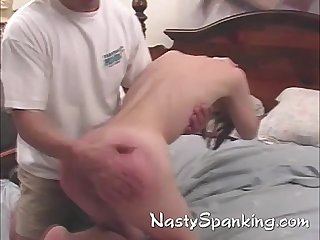 Mia having her cute Ass spanked