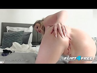 Gina Bait - Flirt4Free - Sexy Blonde with Huge Tits and Big Perfect Ass