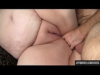 Mature BBW Joanna Roxxx fucked in both holes