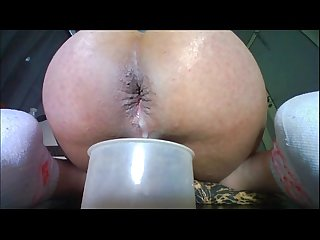 Trans playing with her gaping creampie bb93