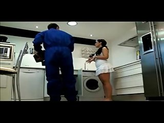 She calls the plumber and fuck him on hidden cam