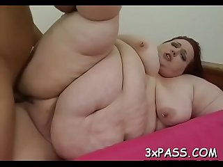 Man fingers and fucks luscious slit of one nasty fat woman