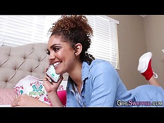 Ebony stepteen spunked