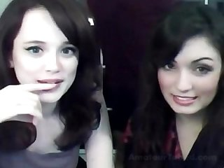 Sister playing webcam
