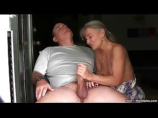 Ov40 mature couple handjob