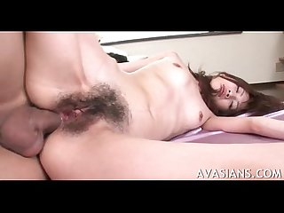 Cruel asshole destruction for little asian college girl