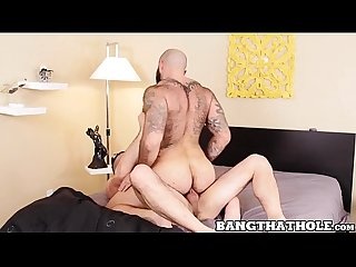 Athletic Marco Napoli sucked off by muscular raw cock rider
