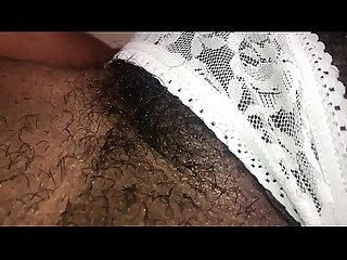 hairy flower in lace panties