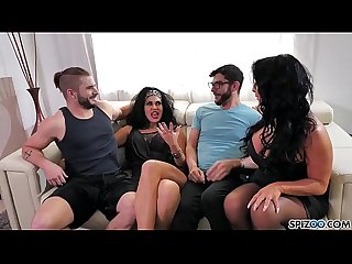 Spizoo - Raven Hart & Savana Styles gets fucked by 2 big dicks, big booty