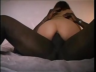 Bitch of a wife ass fucked by a bad black guy