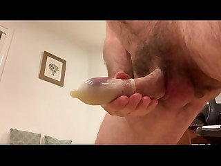 close up cum covered wanking