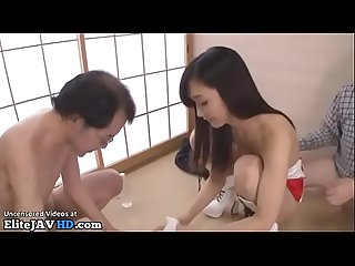 Japanese beauty satisfy older men