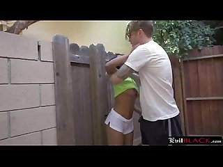 Awesome ebony teen has rough interracial adventure.18p-2
