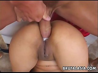 Asian skank annie cruz gets her ass drilled deep