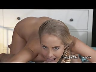 Shaved pussy and small tits milf banged