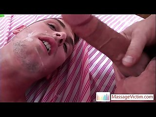 Matthew gets his super lubed anus fucked deep by massagevictim