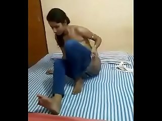 desi rendi nude in front of customer