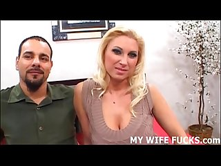 Watch you wife riding a huge male pornstar cock