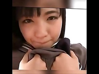 Cute Japanese Girl dancing in school uniform basedcams period com