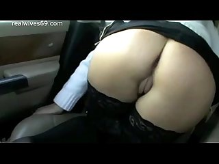 Hot Young MILF Flashing Pussy and Boobs in Car on Realwives69.com