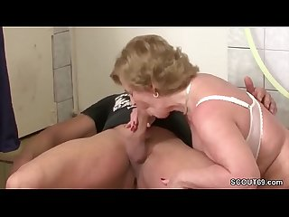 Busty milf mom gets hard fucked by son