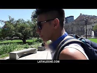 Latinleche bubble butt latin jock gets paid to suck cock on camera