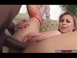 Poor Cuckold Watching Scarlett Pain Getting Pounded By A BBC