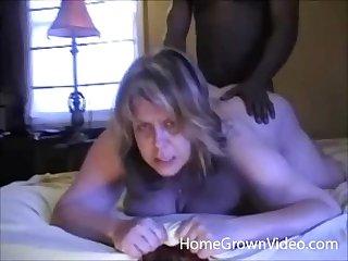 Black guy fucks bald BBW pussy