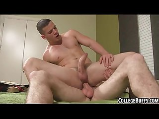 These two sexy college hunks are having anal sex