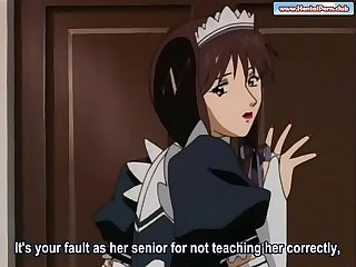 Maids doing sex training for the new staff hentai