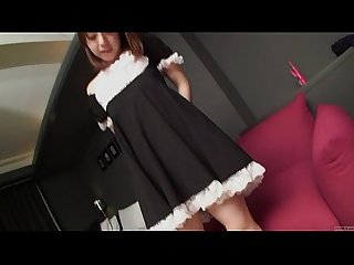 Subtitled uncensored Japanese amateur maid POV blowjob in HD