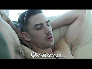 ManRoyale Ebony Kevin Blaise fucks Jack Hunter tight ass