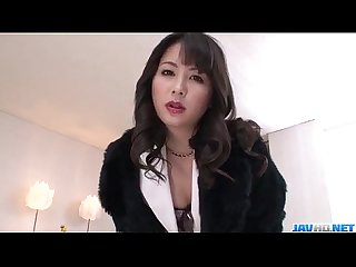 Ayumi iwasa takes down undies to fuck with several guys